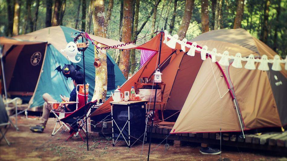 是 露營啊 Halloween Camping Funny