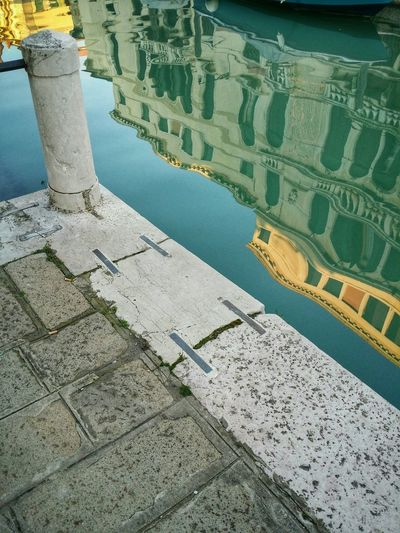 Venice, Italy Water Reflections Historical Buildings Canals Quietness Contemplation Pavements Leading Lines
