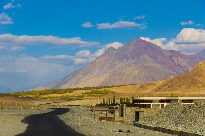 Road in Leh, India Beauty In Nature Cloud - Sky Day India Ladakh Landscape Landscape_Collection Leh Mountain Mountains Nature No People Outdoors Relaxing Scenics Sky Smoke - Physical Structure Tranquil Scene Tranquility