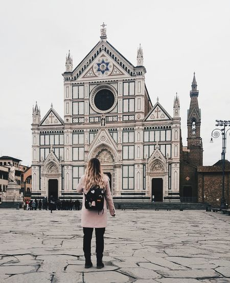 when all is clear and you still don't see Italy Church Clarity Pink Travel Destinations One Young Woman Only Only Women One Woman Only Adult Front View People One Person Young Adult Vacations Day City Architecture Outdoors