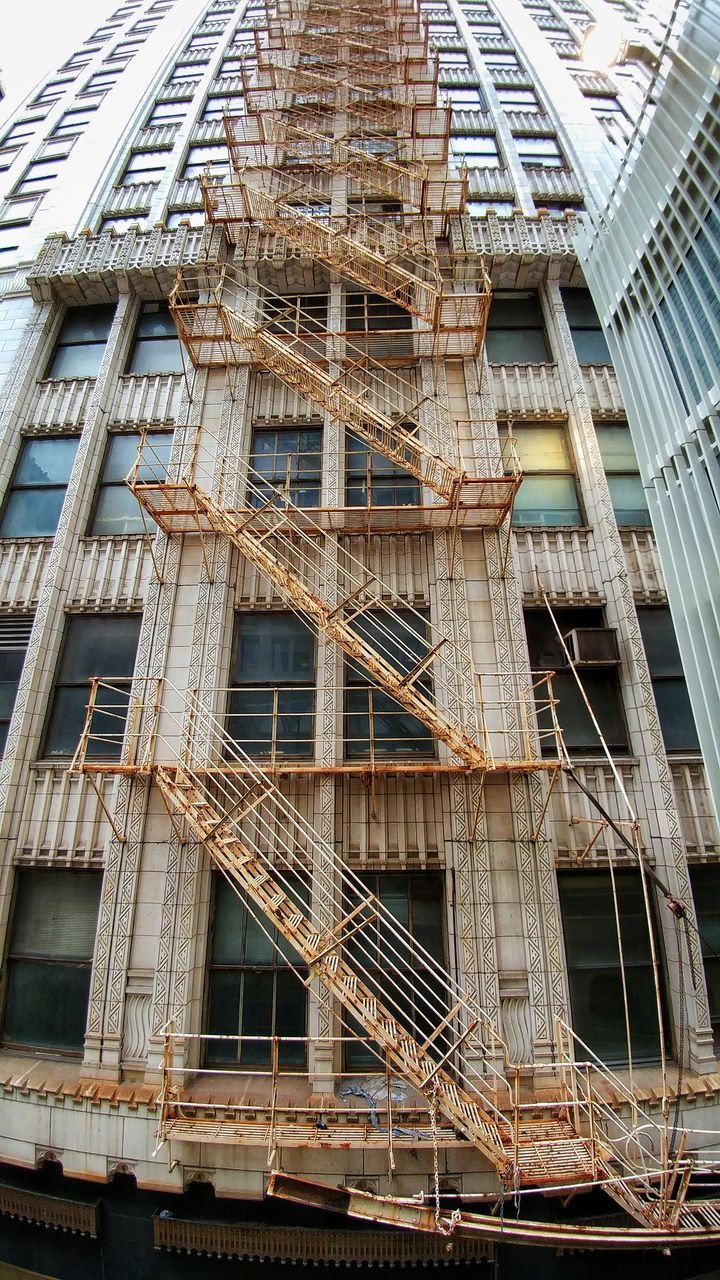 architecture, construction site, building exterior, built structure, low angle view, window, building - activity, no people, day, outdoors