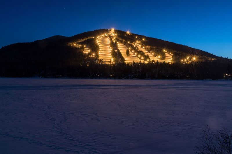 Night skiing Downhill Skiing Night Skiing Skiing No People Nature Winter Snow Clear Sky Mountain Beauty In Nature