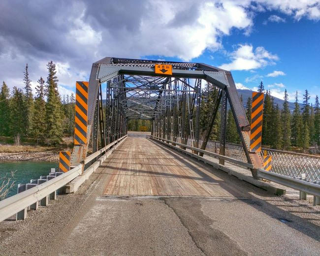 Metallic Bridge Over River
