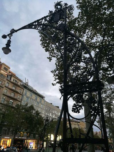 Barcelona, Spain Humanity Meets Technology City Tree Sky Architecture Amusement Park Fairground Office Building