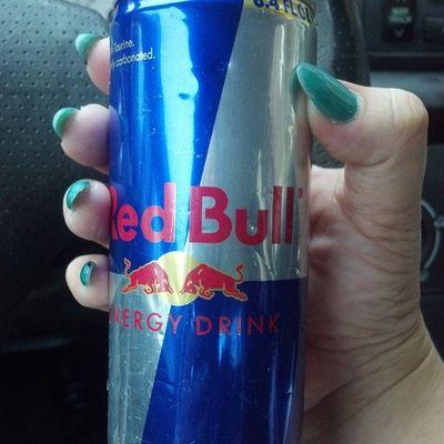Killing myself slowly Nofilter RedBull Energydrinks Dailypics work hustle manicure stilettonails