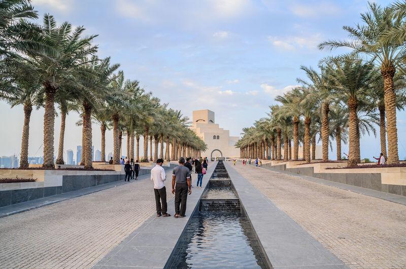Museum Of Islamic Art Doha, Qatar Architecture Building Building Exterior Built Structure Capital City Cloud Cloud - Sky Doha Islamic Islamic Architecture Modern Modern Architecture Museum Outdoors People Qatar Sea Sky Tourism Travel Travel Destinations