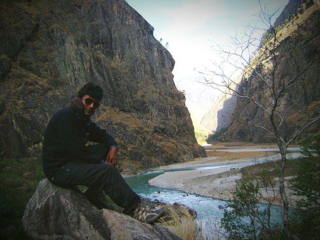 Tourism TSUM Valley Budhigandaki Nepal Hills Rock Riverside