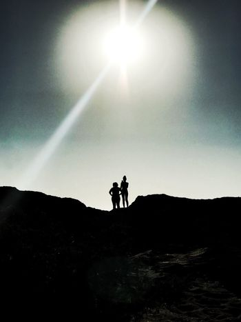 Sky Two People Silhouette Real People Togetherness Men Leisure Activity