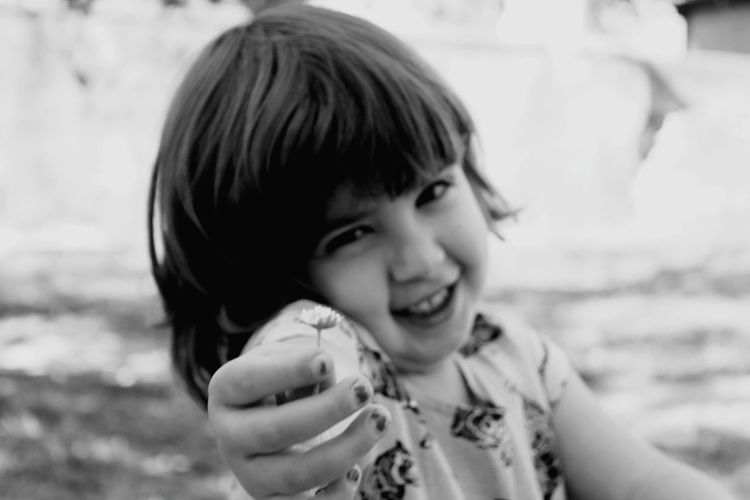 My everything Happy Child  Child With Flowers Child Portrait Childhood Headshot Smiling Girls Happiness Looking At Camera Bangs Close-up Squinting Elementary Age Protruding Children Slide - Play Equipment Caucasian Head And Shoulders Babyhood Innocence