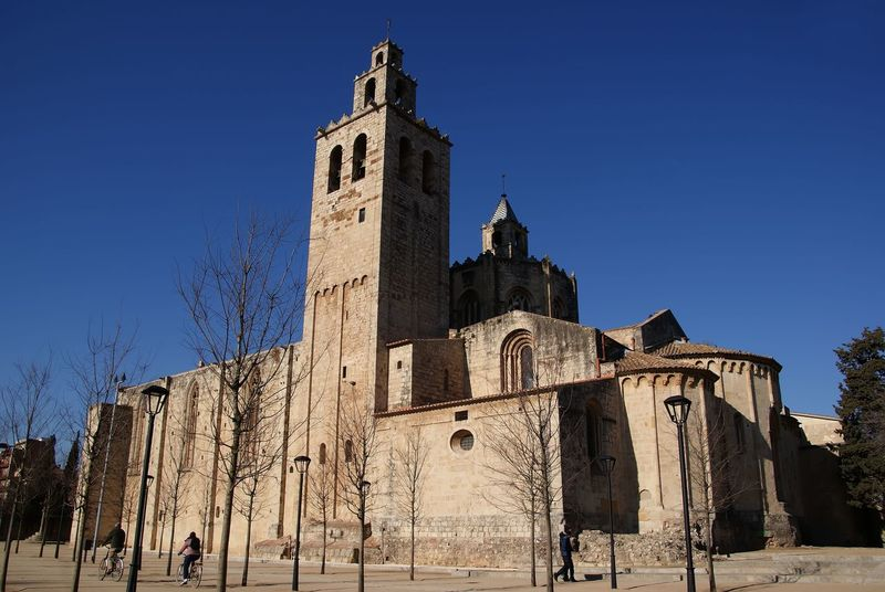 Architecture Blue Building Exterior Built Structure Day Exterior Façade History Low Angle View Monastery Of Sant Cugat Del Valles (Barcelona) No People Outdoors Sky Wideangle