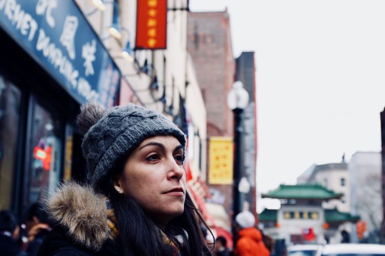 Chinatown - Boston Fashion Portrait Of A Woman Winter Beautiful Woman City Close-up Fashion Fashion&love&beauty Fur Coat Headshot Knit Hat Lifestyles One Person Outdoors Portrait Portrait Photography Portraiture Real People Street Photography Streetphotography Warm Clothing Winter Women Young Women EyeEm Ready   The Portraitist - 2018 EyeEm Awards International Women's Day 2019