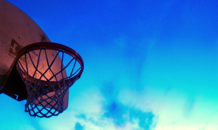 Ball Network Coach Hoop Dreams NBA NBA Hoopstar Basketball - Sport Basketball NBA Basketball Hoop Blue Childhood Day Lifecoach Lifecoaching Low Angle View Net No People Outdoors Play Ball Play Basketball Sky Sport Sports
