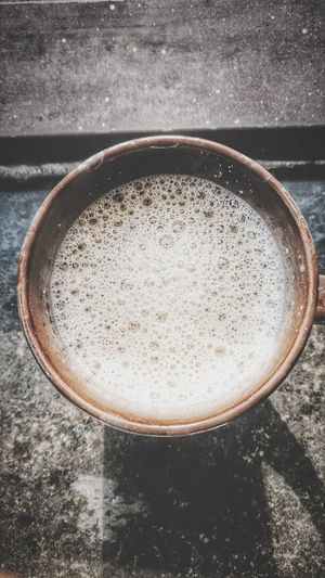 Food And Drink Drink Refreshment No People Directly Above Table Frothy Drink Freshness Close-up Day Froth Art Indoors  Coffee Coffee ☕ Coffee Cup Morning Light Good Morning Morning Essentials