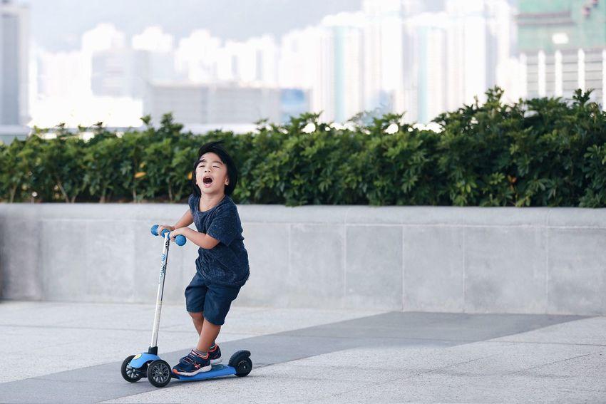 Sport In The City HongKong Hong Kong Playing Kids Scooter Fun Having Fun Showcase: November Q Q-ute and Quick!! The joy of childhood.