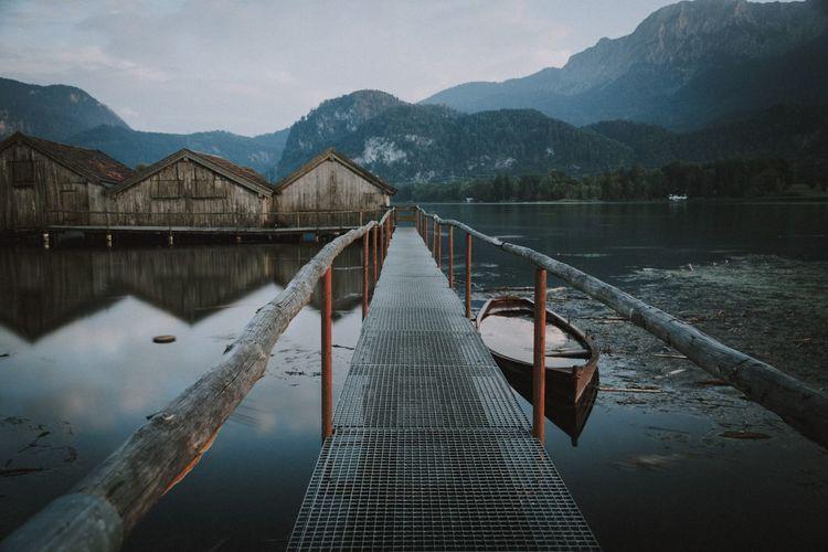 Calm place GERMANY🇩🇪DEUTSCHERLAND@ Germany Outdoor Photography Alpen Wildlife Moodygrams Landschaft Landscape Lakeside Bavaria Bavarian Landscape EyeEm Selects Water Mountain Footbridge Lake Adventure Pier Sky Fishing Net Countryside