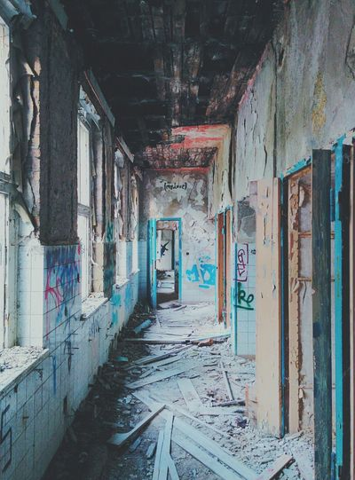 Abandoned Hospital Mylove Graffiti