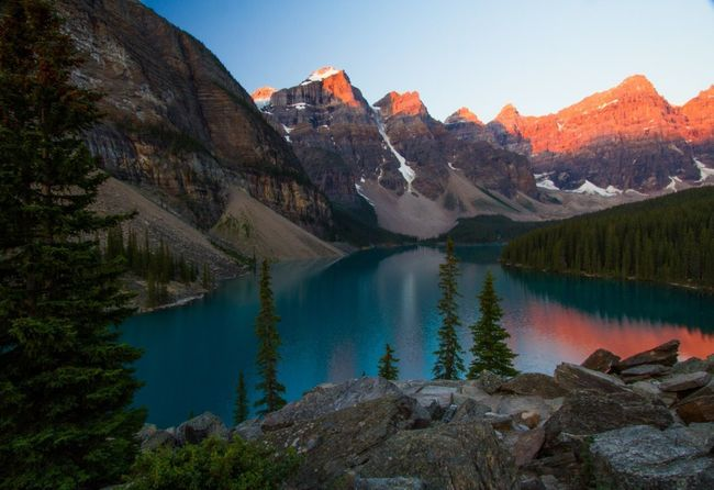 Aplenglow Canada Reflection Hiking Photography Landscape_Collection Lakeside Sunrise Landscape_photography Hiking Lake Landscape Lakeside Mountain Scenics - Nature Water Tree Beauty In Nature Lake Sky Tranquil Scene Mountain Range Nature Tranquility Non-urban Scene Landscape Forest Land No People