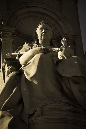Queen Victoria Statue Human Representation Male Likeness Sculpture Art And Craft Creativity Female Likeness Spirituality Low Angle View Travel Destinations History Religion No People Day Indoors