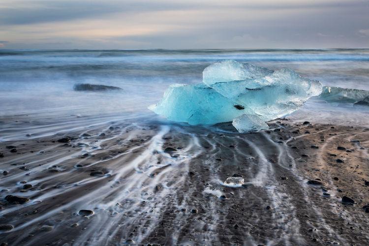 Jokulsarlon diamond beach landscape, iceland