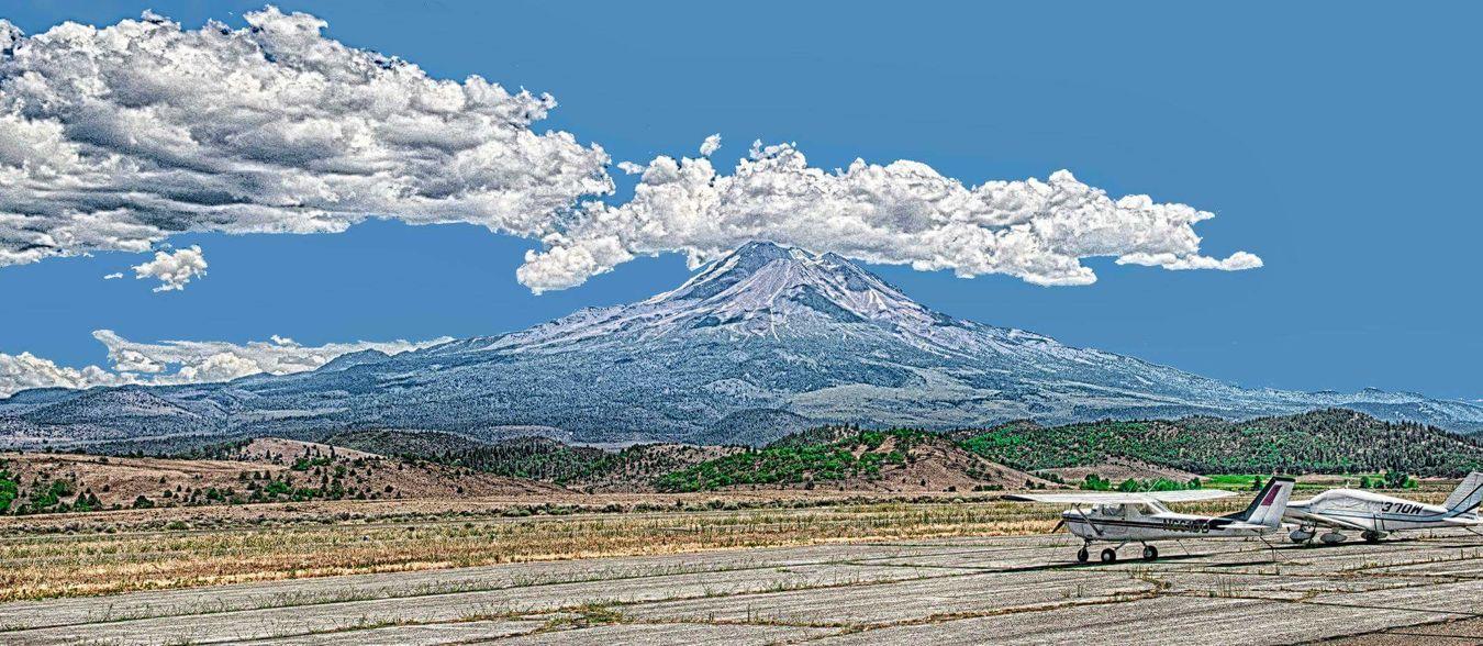 Mt. Shasta Mountain Mt Shasta California Volcano Panorama