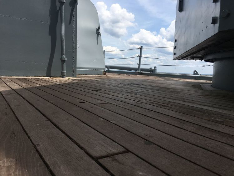 No Filter, No Edit, Just Photography Cloud - Sky Sky Built Structure Day Wood - Material Hardwood Floor Boat Deck Nautical Vessel Building Exterior Taking Photos Alabama Outdoors Southland USS Alabama American Steel American Muscle