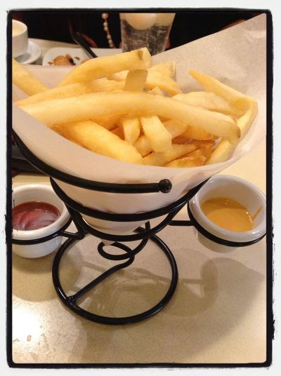 After a long day ride! Feeding time... Fries Foodie Yummmmm  :)