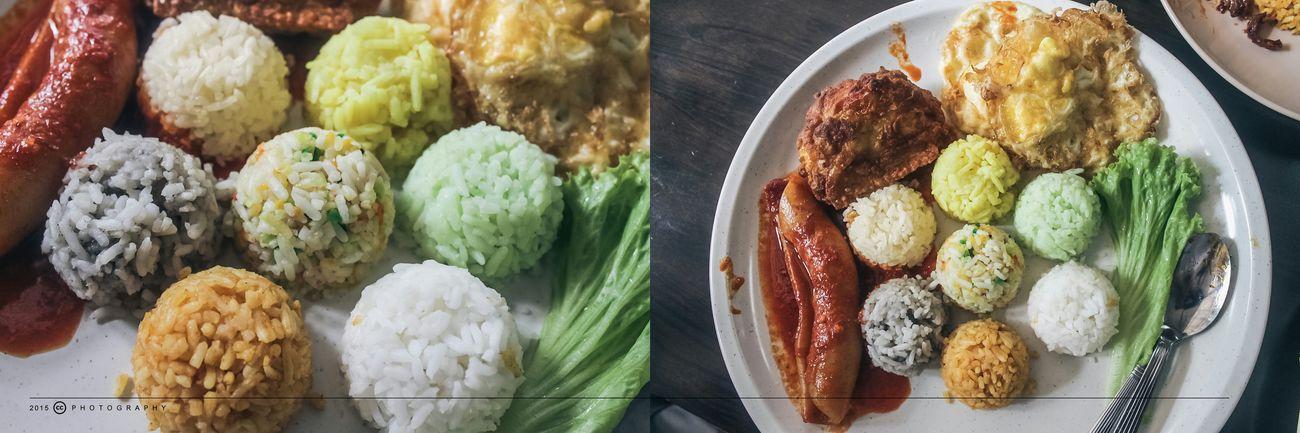[ Penang . Foods ] nasi 7 benua,7色饭以七种不同饭如:Nasi Putih,Nasi Lemak, Nasi Minyak,Nasi Kacang,Nasi Hujan Panas,Nasi Lemuni 和Nasi Tomato Nasi 7 Benua Penang Foodphotography Foodporn FoodHeaven Penangfood Nasi7benua 2015