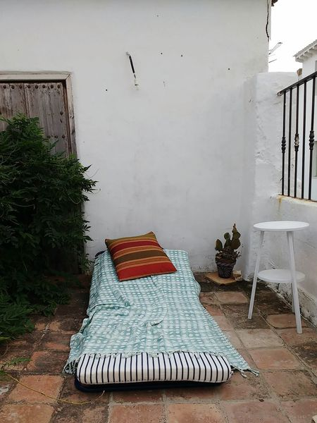 space of relaxation Rustic Outdoors Day Bed Day No People Bed Throw Relax Quiet Meditation Place Solitude And Silence Solitude Reading Space Reading Spot Hipster Space