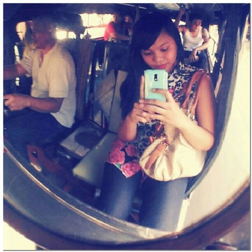 Such a camwhore! Taking pix even while on the jeepney... Picturepicture Selfportrait Meonly Camwhore camtrip filipino transportation jeepney onlyinthephilippines
