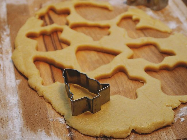 Cookie Baked Food And Drink Food Sweet Food Still Life Freshness Indoors  Shape Star Shape Christmas Preparation  Pastry Cutter Dough Table Close-up No People Design Holiday High Angle View Gingerbread Cookie Temptation Preparing Food
