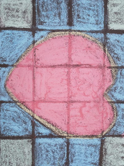 Heart Chalk Multi Colored Backgrounds Textured  Full Frame Paint Pattern Close-up Architecture Painted Powder Paint Street Art Drawn Graffiti Vandalism Mural Drawing Written