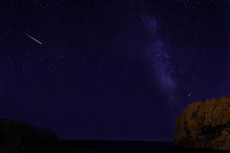 Idyllic shot of star field