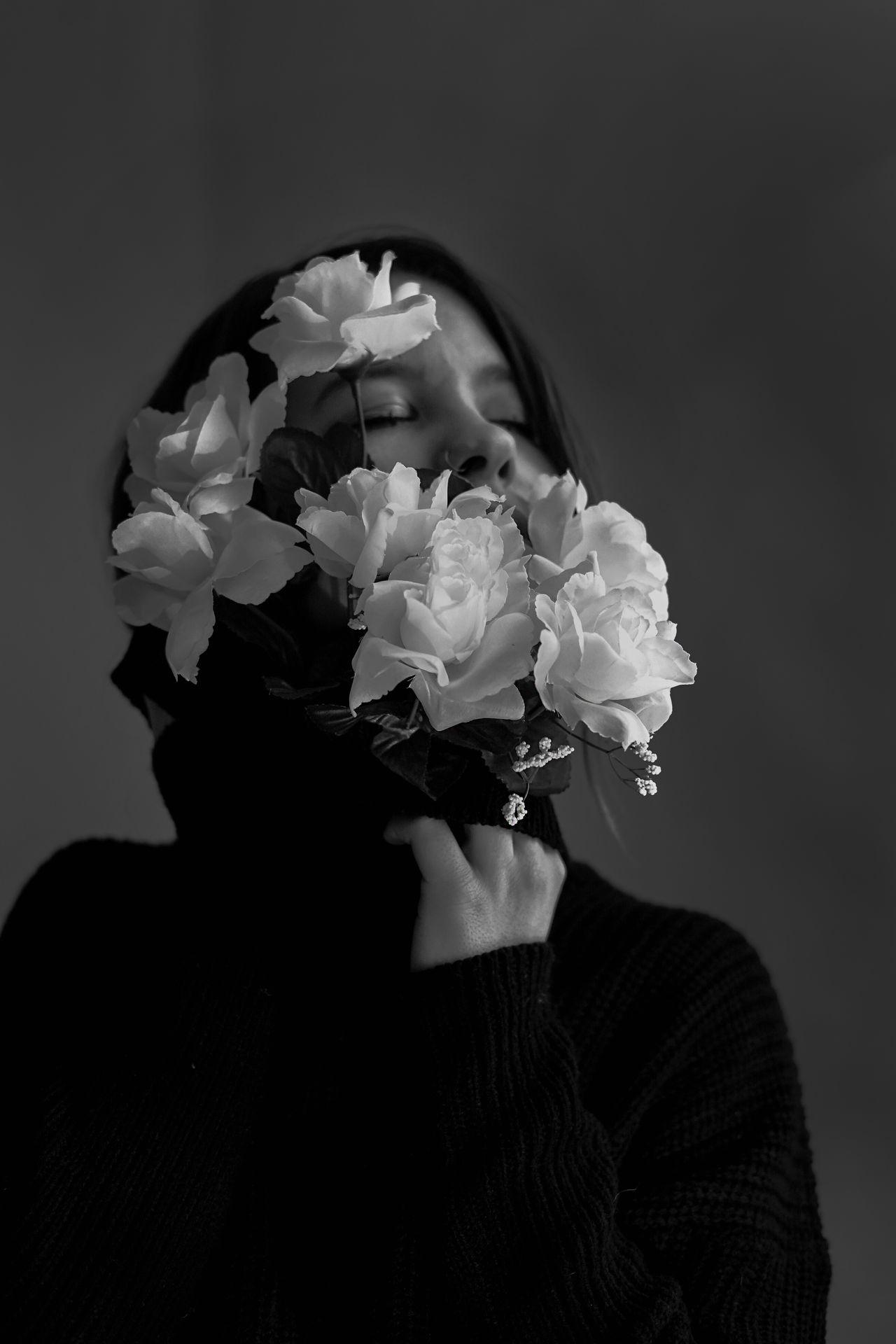 flower, flowering plant, plant, headshot, one person