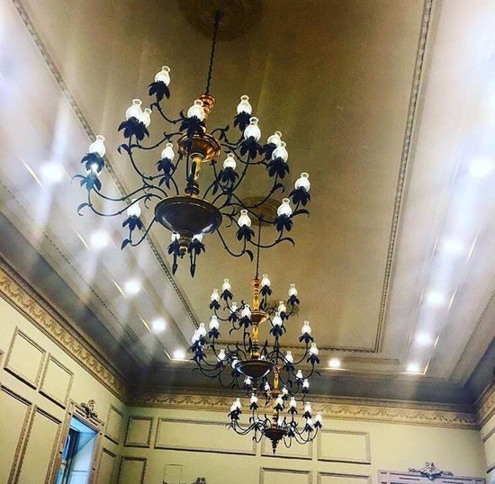 Light Lamps Ceiling Old Building Architecture Cdmx Mexico Centrohistorico