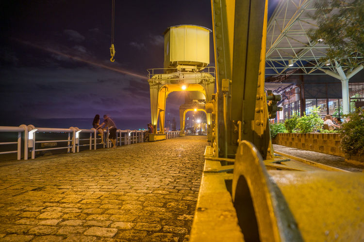 Architecture City Illuminated Night Outdoors Sky Yellow