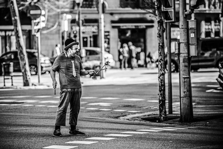 """The Clown"" Clown Day EyeEm EyeEm Best Shots EyeEm Gallery EyeEmBestPics EyeEmNewHere Focus On Foreground Full Length Lifestyles One Person Outdoors People Photography Themes Real People Standing Street Street Photography Streetphotography The Portraitist - 2017 EyeEm Awards Urban Young Adult The Street Photographer - 2017 EyeEm Awards EyeEm Selects Fresh on Market 2017 The Street Photographer - 2018 EyeEm Awards The Art Of Street Photography"