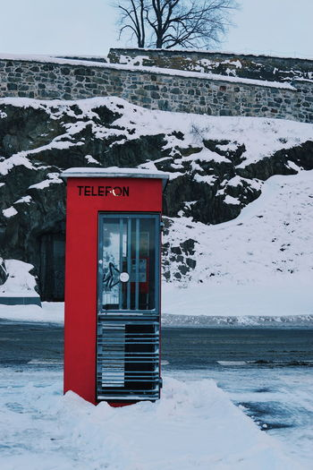 Phone booth in oslo