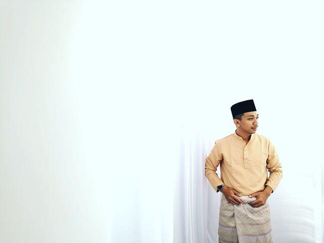 Melayu Attire with white background