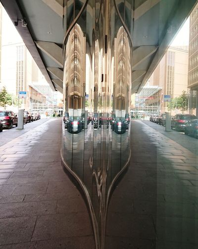 More reflections... Me&berlin Architecture Car Transportation Architectural Column No People Indoors  Symmetry