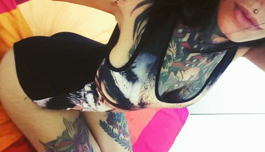 Clothing Inked Tattoo Tattooface Pentagram Girls With Tattoos Ink Inkedgirls Alternative Girls Girlswithtattoos