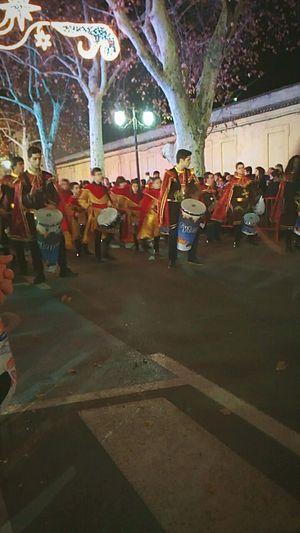 Cavalgata Navidad Reyes Magos Tambor Gente España València Xativa Feria