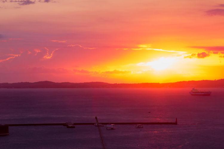City Water Sunset Sea Multi Colored Nautical Vessel Beauty Horizon Red Beach Romantic Sky Dramatic Sky Salt Basin Stratosphere Capture Tomorrow