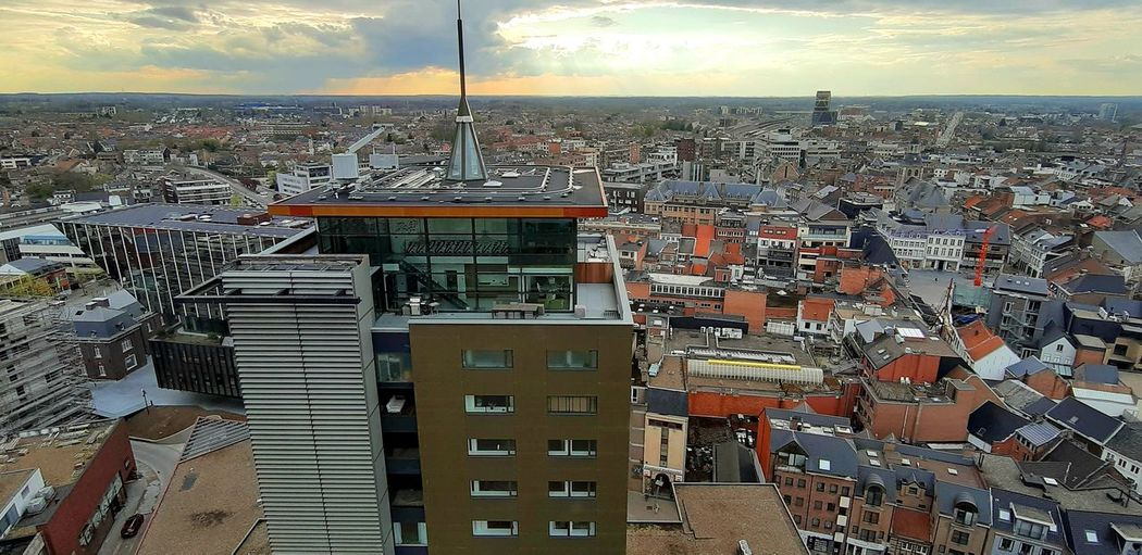 Hasselt Belgium Cityscape City Sky Architecture Building Exterior Cloud - Sky Built Structure Aerial View Office Building Skyscraper The Traveler - 2019 EyeEm Awards