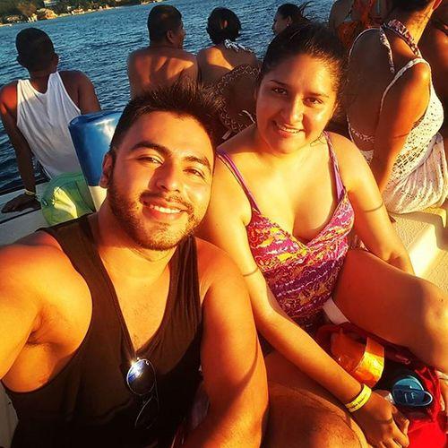 Snorker en Arrecife y en la zona de estrella de mar. .😊✌👏🌊🚤 Roatan Honduras Westbaybeach Vacaciones2015❤