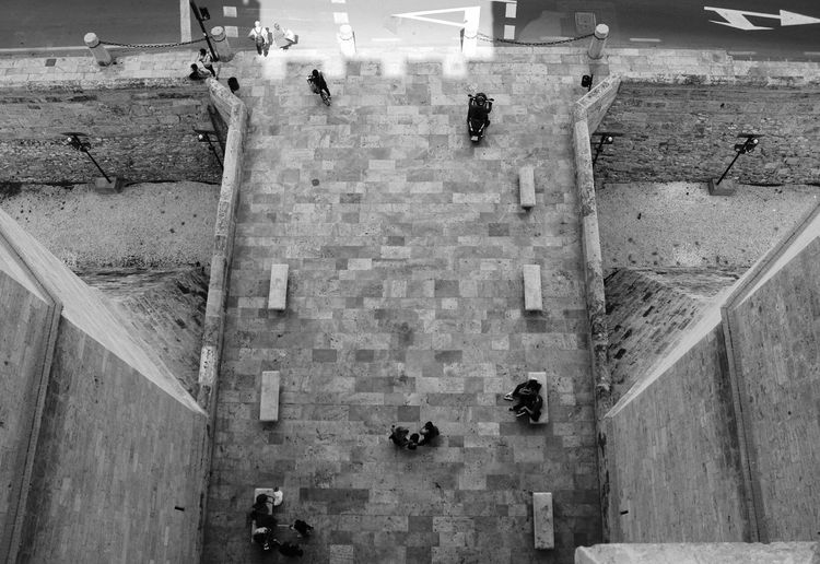 EOS EyeEm Best Shots EyeEm Selects The Week On EyeEm Valencia, Spain Architecture Blackandwhite Bnw Bnw_collection Building Exterior Built Structure Canon Canonphotography Day History Lifestyles Men Outdoors People Real People Steps And Staircases Urban