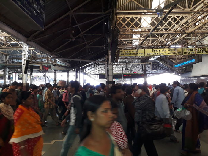 Rush hour. Large Group Of People Crowd Passenger People Women Men Public Transportation Travel Destinations