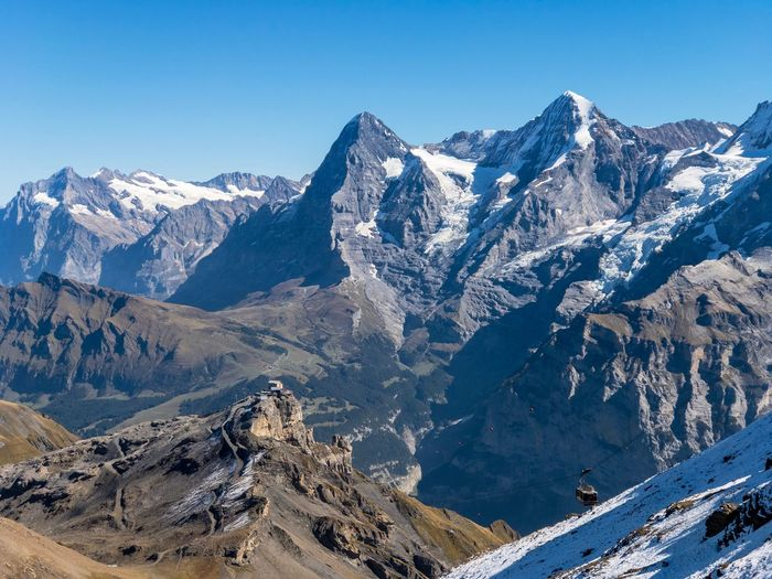 Schilthorn 🏔 Swiss Alps Mountains Travelphotography Roadtrip Alpine Landscape Mountain Scenics - Nature Mountain Range Snow Cold Temperature Beauty In Nature Winter Tranquil Scene Snowcapped Mountain Environment Landscape