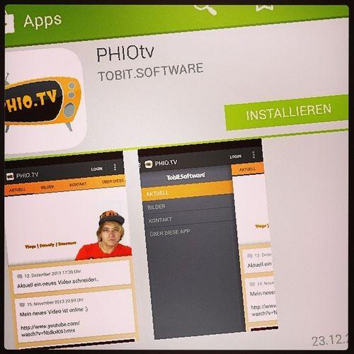 Jetzt im Playstore für dein Android Smartphone Http://goo.gl/Uf90XZ Android App Phiotv