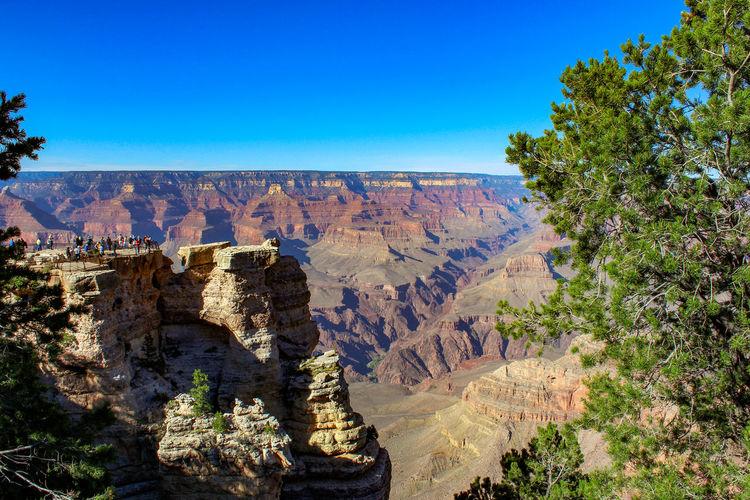 Grand Canyon Canyon USA Falls Nature Travel Rock Tranquility Panorama Panoramic View