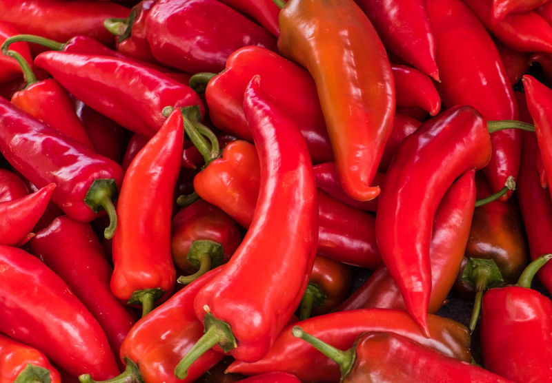 Red Vegetable Food And Drink Pepper Food Spice Chili Pepper Backgrounds Full Frame Large Group Of Objects Abundance Red Chili Pepper Market Freshness No People Still Life For Sale Retail  Healthy Eating Wellbeing